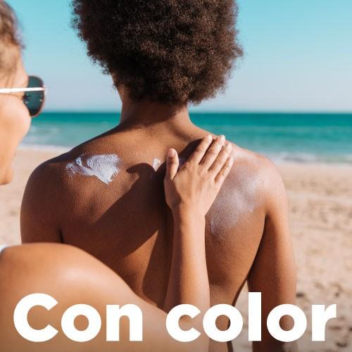 Productos de protección solar con color