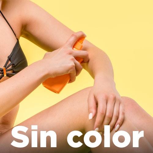 Productos de protección solar sin color